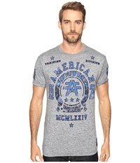 American Fighter Dalton Artisan Short Sleeve Tee Heather Grey Men's Clothing Gray