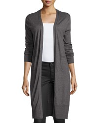 Catherine Catherine Malandrino Millie Long Open Cardigan Gray
