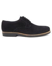 Menlook Label Willy Navy Black Suede Derbies