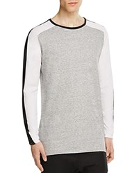 Zanerobe Lunix Flintlock Color Block Tee Grey Marle White