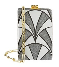Edie Parker Carol Nouveau Shoulder Bag Female Silver