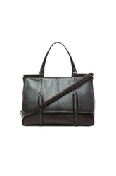 Bottega Veneta Large Metallic Ayers Top Handle Bag In Black Animal Print