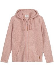 Fat Face Yarmouth Textured Zip Through Knit Rose Mist