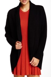 Portolano Textured Knit Open Front Cardigan Black
