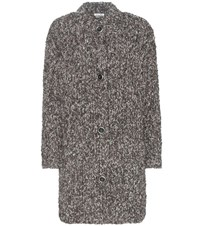 Miu Miu Alpaca And Wool Cardigan Brown