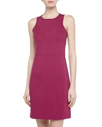 4.Collective Sleeveless Seam Detailed Ponte Dress Plum