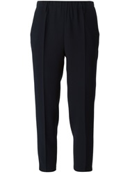 Forte Forte Cropped Trousers Blue