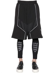 Bikkembergs Db1 Techno And Cotton Jogging Shorts