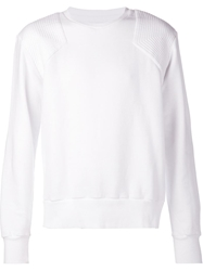 Michael Bastian Ribbed Shoulder Sweater White