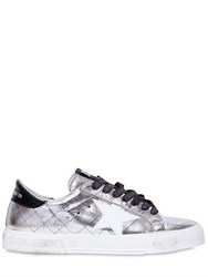Golden Goose 20Mm May Metallic Quilted Sneakers