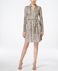 Inc International Concepts Petite Printed Button Down Shirt Dress Only At Macy's