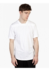 Public School Men's White Cotton T Shirt