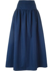 Sonia Rykiel Flared Long Skirt Blue