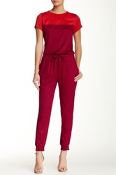 Alternative Apparel Short Sleeve Jumpsuit Pink