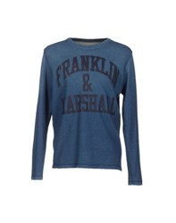 Franklin And Marshall Topwear Sweatshirts Men Blue