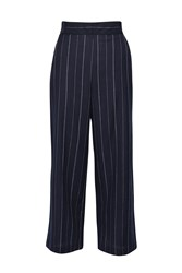 French Connection Riviera Stripe Flared Trousers Blue