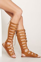 Forever 21 Faux Suede Lace Up Sandals