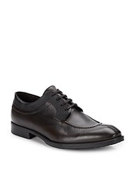 Bacco Bucci Textured Leather Lace Up Oxfords Black