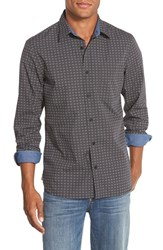 Men's Wallin And Bros. Trim Fit Dot Print Sport Shirt