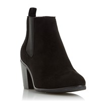 Head Over Heels Paseve Block Heel Chelsea Boots Black