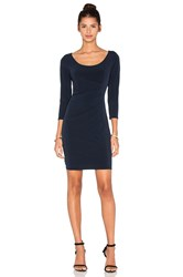 Velvet By Graham And Spencer Gini Stretch Jersey 3 4 Sleeve Dress Navy