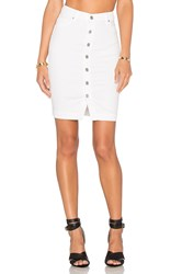 Black Orchid Button Front Pencil Skirt White
