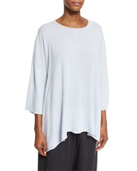 Eskandar 3 4 Sleeve Cashmere Sweater Dark Cloud
