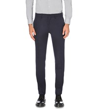 J. Lindeberg Paulie Slim Fit Tapered Stretch Flannel Trousers Midnight