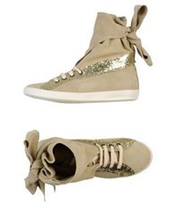 Manoush High Tops And Trainers Beige