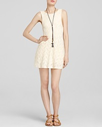 Free People Dress Lace Poppy Mini Tea