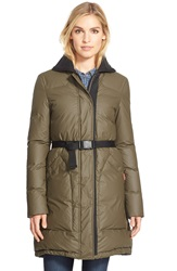 Hunter Rubber Touch Down Coat Olive