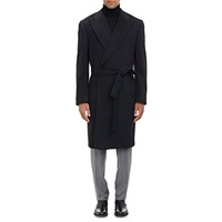 Cahmere Wrap Overcoat Charcoal