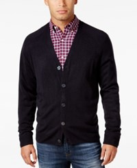Weatherproof Vintage Men's Big And Tall Soft Touch Cardigan Only At Macy's Navy