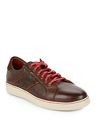 Robert Graham Murphy Leather Sneakers Cognac