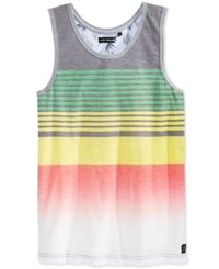 Ocean Current Men's Lebron Ombre Stripe Tank Black
