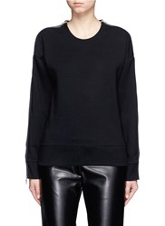 Rag And Bone Zip Sleeve Sweatshirt Black