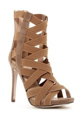 Chase And Chloe Tiffani Strappy Heeled Sandal Brown
