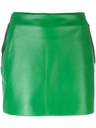 Barbara Bui Mini Leather Skirt Green