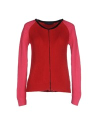 Blue Les Copains Knitwear Cardigans Women Red