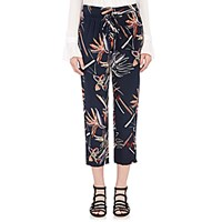 Maiyet Women's Silk Drawstring Slouch Pants Navy