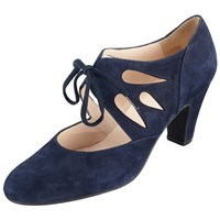 John Lewis Willa Cut Out Shoe Boots Navy Suede