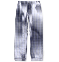 Sleepy Jones Marcel Gingham Check Cotton Pyjama Trousers Blue