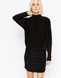 Gestuz Fitted Dress With High Neck Black