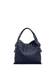 Mango Laser Cut Design Bag Navy