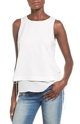 Women's J.O.A. Side Lace Up Layered Tank