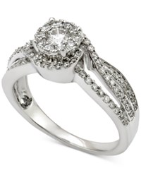 Macy's Diamond Engagement Ring 3 4 Ct. T.W. In 14K White Gold