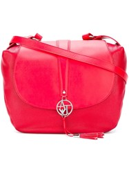 Armani Jeans Large Crossbody Tote Red