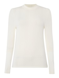 Therapy Roll Neck Top Long Sleeve Ivory