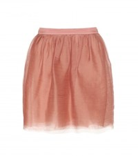 Dorothee Schumacher Fragile Nature Silk Chiffon Skirt Pink