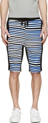 Markus Lupfer Black And Bule Striped Shorts